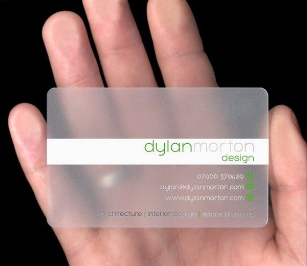 17 Best Transparent Business Cards Images On Pinterest