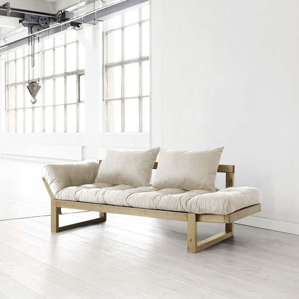 Edge Natural With Natural Frame by Fresh Futon