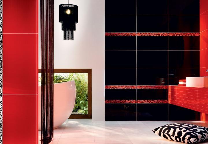 Баня Colour Black & Red