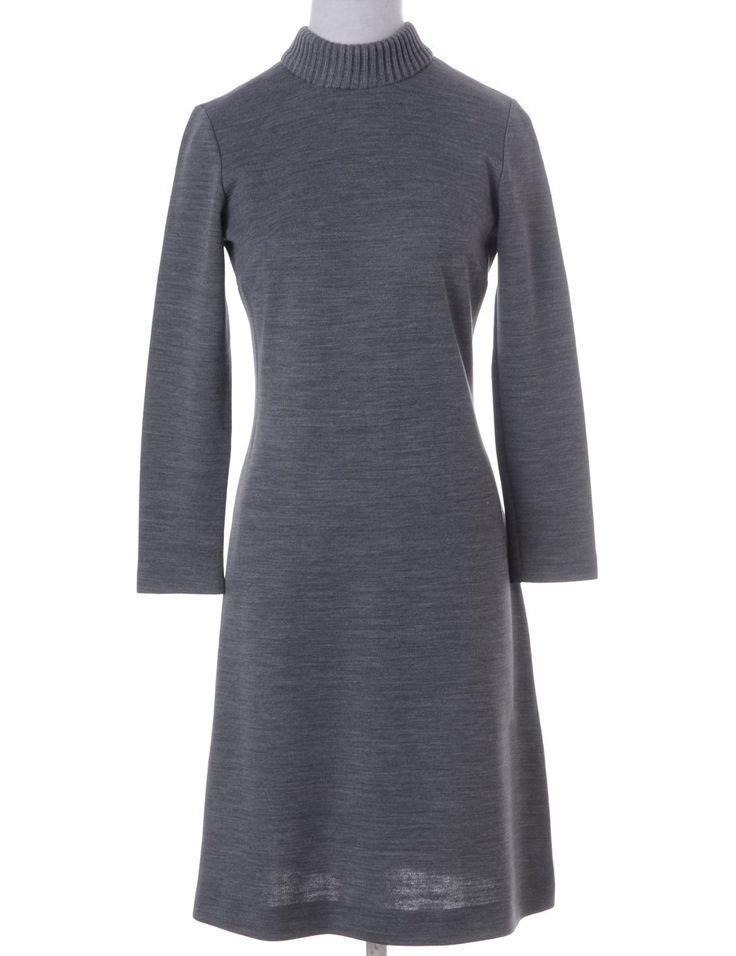 Long Sleeved Grey Winter Dress