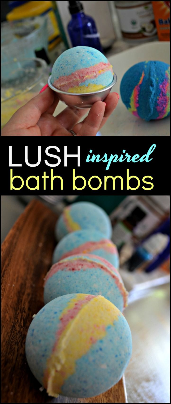 Save money AND spoil yourself with these these fizzy and fragrant DIY Lush inspired bath bombs at home!