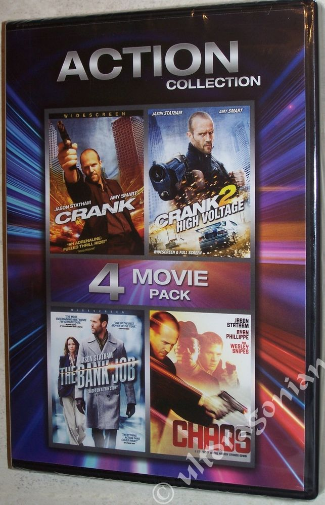 Great Action here: Crank 1 2 The Bank Job Chaos DVD 4-Movie Collection Jason Statham NEW Ships FREE
