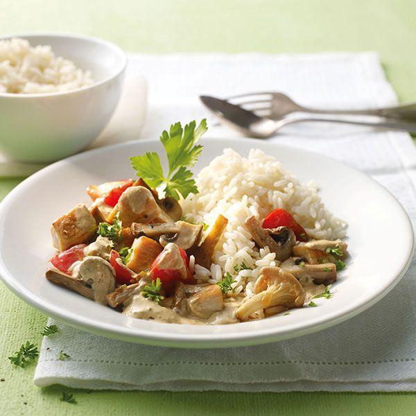 Weight Watchers recept - Paddenstoelschotel met kip