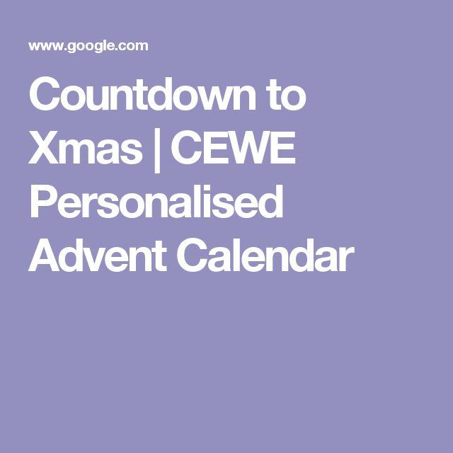 Countdown to Xmas | CEWE Personalised Advent Calendar