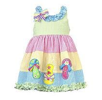 Emily Rose  Flip Flops Seersucker Dress 18M