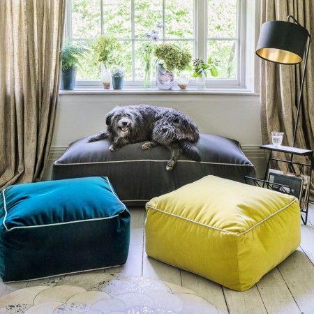 Velvet Pouffes - Pouffes & Bean Bags - Seating - Sofas & Seating