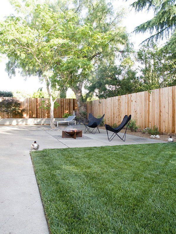 """Black Butterfly Chairs around a fire pit. Hunter & Casie's """"Redneck Modern"""" Eichler Home House Tour   Apartment Therapy"""