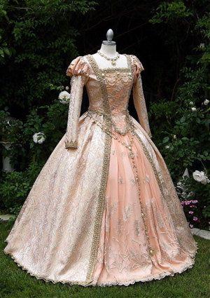 Shakespears in Love Elizabethan Princess Cinderella Deluxe Fantasy Gown Custom. $950.00, via Etsy.