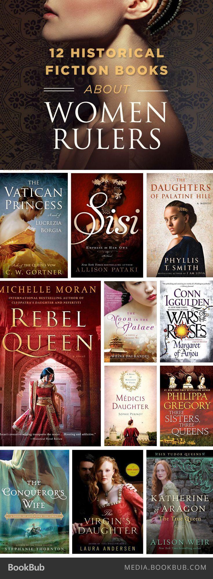 Os 12 livros de ficção histórica sobre as mulheres que reinaram.
