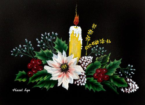 Christmas Candle. Hazel Lynn.