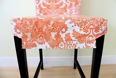 Slipcover from oilcloth for Ikea barstoolsIkea Barstools, Clothing Chaircovers, Chairs Slipcovers, Oilcloth Slipcovers