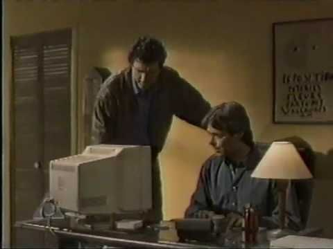 "Television commercial for American Online, which came at the birth of consumer internet usage (""dot com boom"") in the mid-90's. (1995)"
