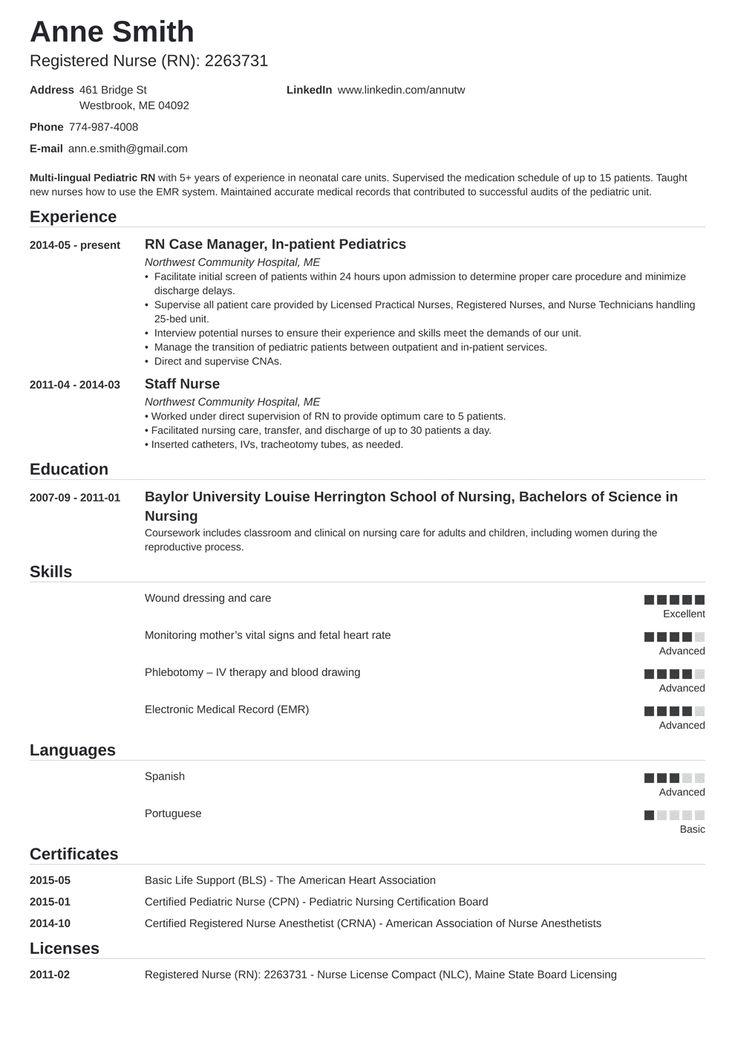 25+ Nursing school resume summary inspirations