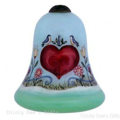 Ne'Qwa LOVE Hand Painted Glass Christmas Ornament Mother's Day Anniversary  NEW