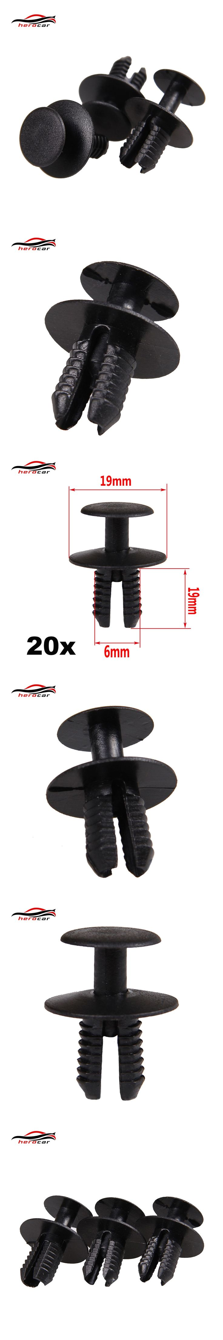 In Stock New 20x For BMW Expanding Rivets- Plastic Trim Clips For bumpers, sills, Skirts & Covers CLIP-02-6MM