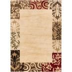 Barclay Vane Willow Damask Beige 7 ft. 10 in. x 9 ft. 10 in. Transitional Area Rug