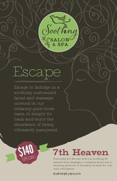 Soothing Green #Spa #Flyer $53