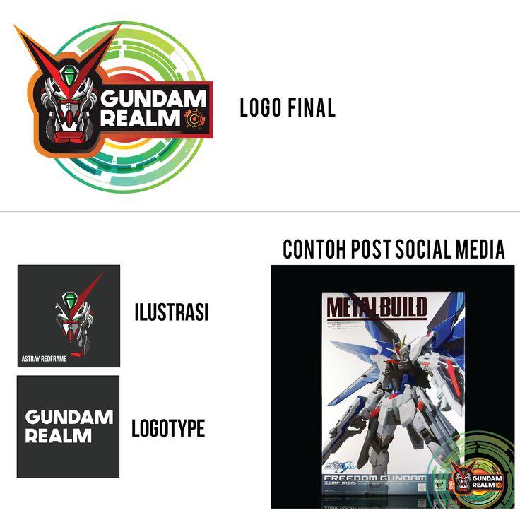 Logo dan aplikasi desain untuk GUNDAM REALM