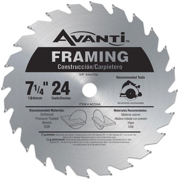 Best 25 circular saw blades ideas on pinterest circular saw freud a0724a carbide tipped circular saw blade 7 14 greentooth Choice Image