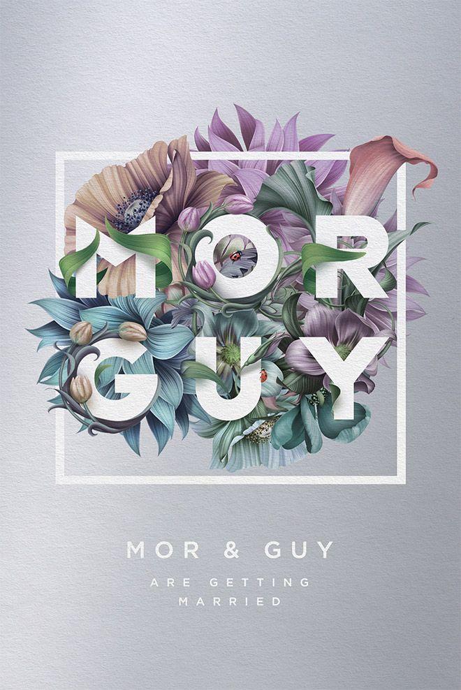 Mor & Guy wedding invitation by Roman Gulman