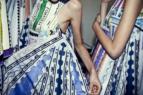 Backstage at Mary Katrantzou SS13