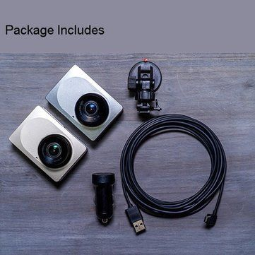 Xiaomi Yi 2.7 Inch 165 Degree 1296P Car DVR Recorder Support ADAS Sale - Banggood.com