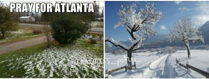 Snow in Atlanta vs snow in Annecy 😂😂😂 @maniss_pchn