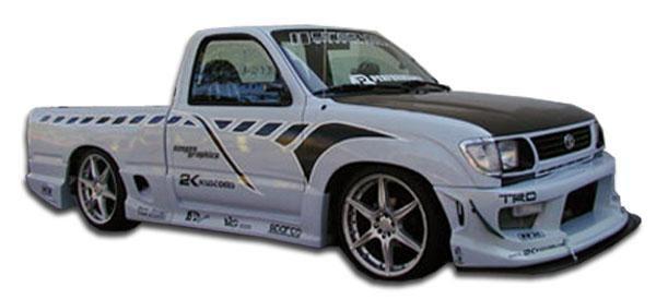 1996-2000 Toyota Tacoma Standard Cab Duraflex Drifter Side Skirts Rocker Panels - 4 Piece (Overstock)