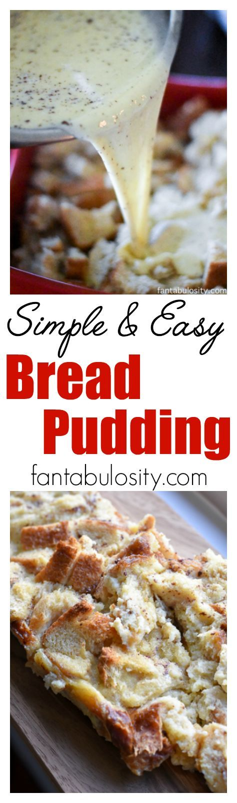 Love using this bread pudding recipe. Simple and easy bread pudding recipe