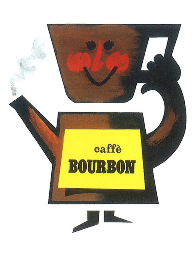 Armando Testa, Caffè Bourbon, 1958