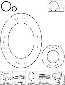 letra o fichas del abecedario y el alfabeto para descargar gratis para imprimir de niños