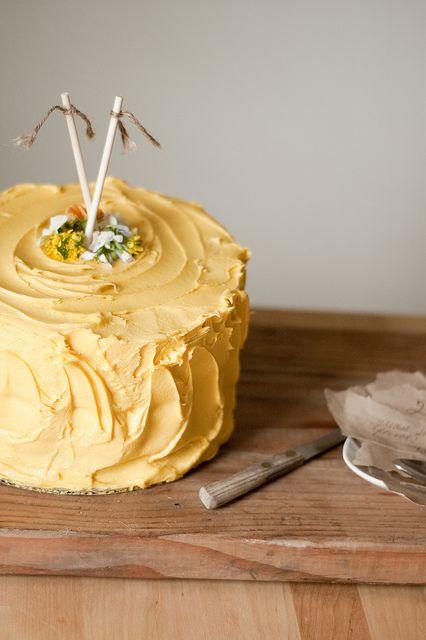 Cakes, Yellow Cakes Recipes, Pumpkin Cakes, Yellow Birthday Cakes ...