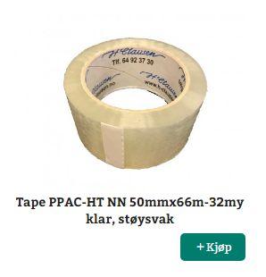 H. Clausen AS: Pakketape og tape med trykk kjøper du hos oss