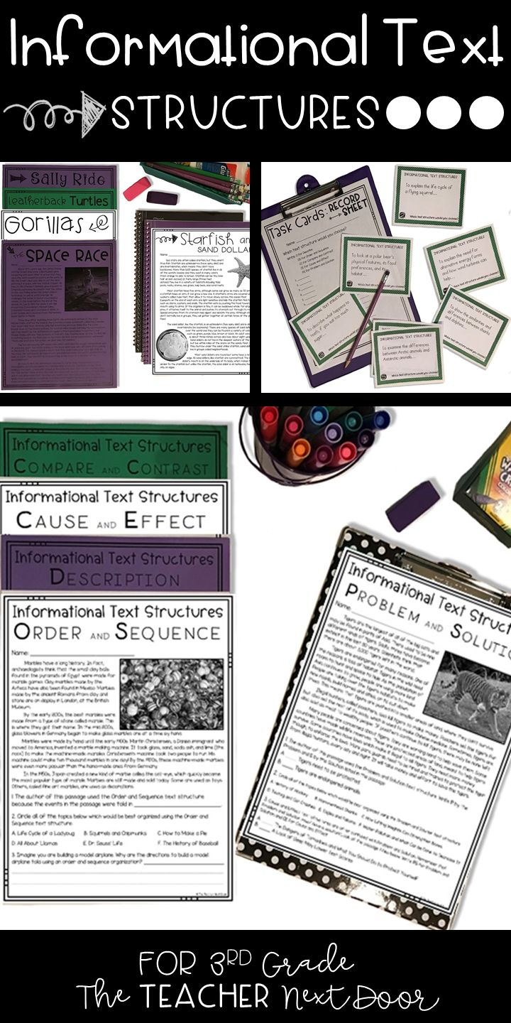 The 25+ best Text structure worksheets ideas on Pinterest | 3rd ...