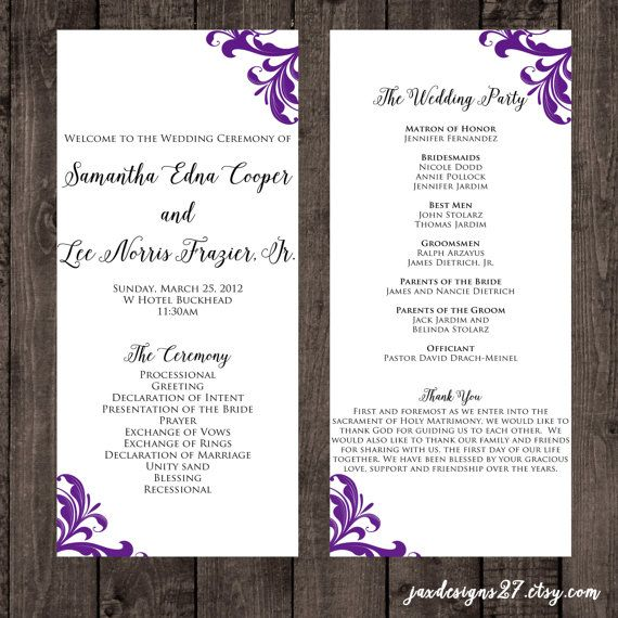 The 25+ Best Wedding Program Template Word Ideas On Pinterest