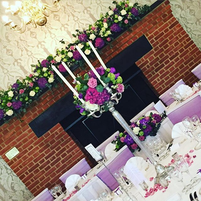 Gorgeous colours for today's wedding @tylneyhallgardens #hampshirewedding #tylneyhall  #hartleywintney #odiham #hydrangea