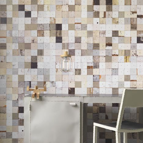 A wallpaper collection designed by Piet Hein Eek, that replicates weathered wood textures.