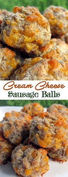 Easy Cream Cheese Sausage Balls