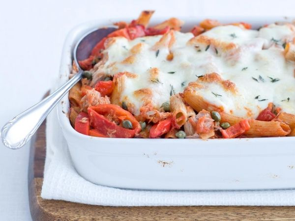 Pastaschotel met tonijn - Italiaans   Weekmenu
