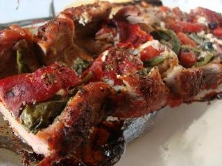 Greek Stuffed Flank Steak