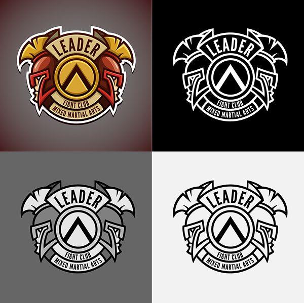 "Logo for Ukrainian professional mixed martial arts club ""Leader"""
