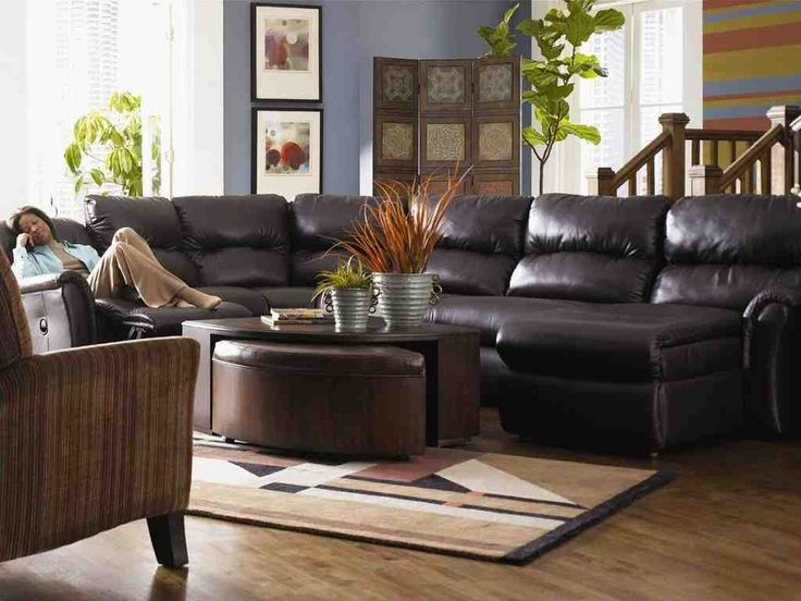 stunning black lazy boy sectional sofa with full sleeper and armless middle interior design
