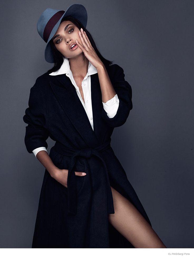 Daniela Braga Gets Glam in Coats for El Pais by Sergi Pons