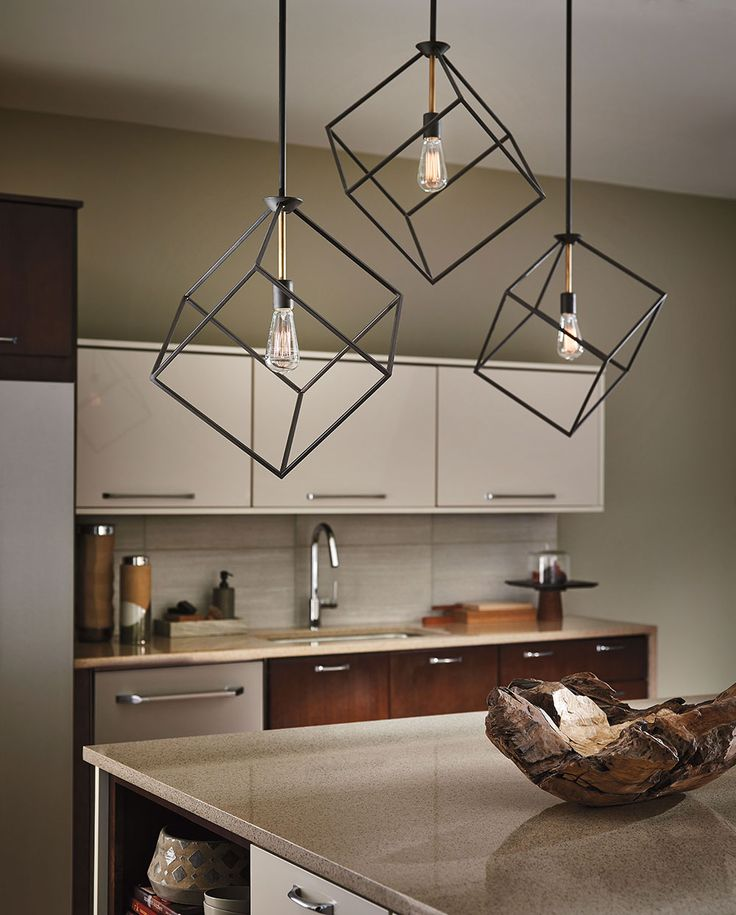 Cubed kitchen lighting design see two options at https aadenlighting com
