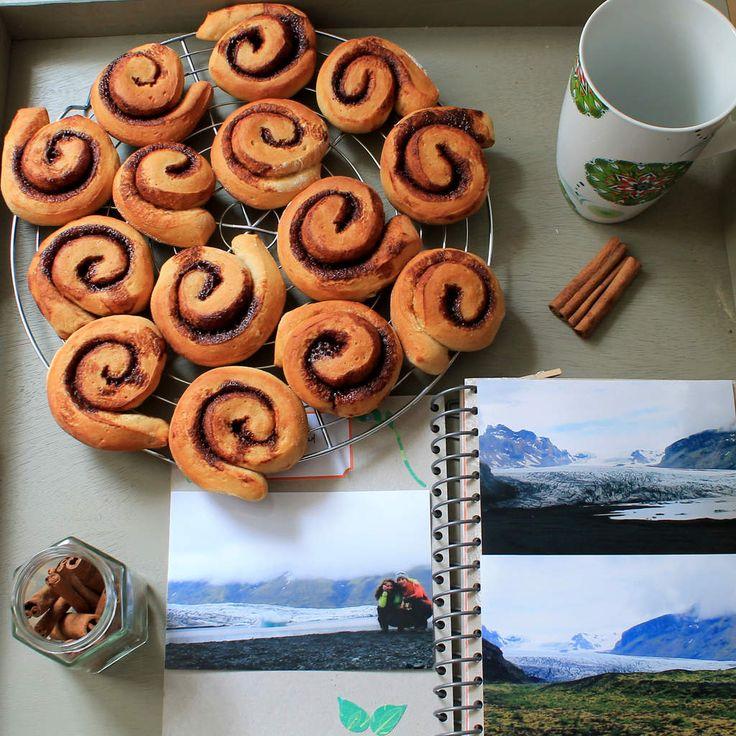 Brioches végétaliennes à la cannelle et au cacao C'est en Islande que j'ai eu…