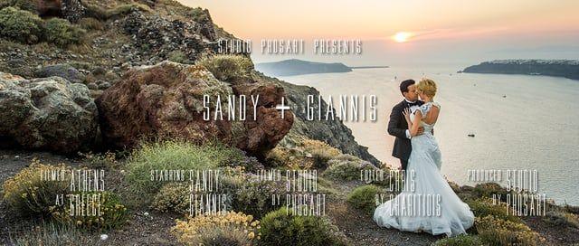 To short film του Γιάννη και της Σάντυ δημιουργήθηκε από την ομάδα μας  ακολουθώντας το ζευγάρι ,απο τις προετοιμασιες του γάμου τους μέχρι και το day after που έγινε στη Σαντορινη.  Ο Γιάννης είχε σκεφτει να έρθει η Σάντυ στην εκκλησία στο Γκόλφ της Γλυφάδας  με άμαξα, σαν πριγκίπισσα και να φύγουν μαζί για να υποδεχτούν τους καλεσμένους τους στο Blu Asure.  Τη χαρά και τη συγκίνηση τους τη νοιώσαμε και μεις  αποτυπώνοντας τα συναισθήματά τους και κρατώντας για όλη τη ζωή τους τις αναμν...