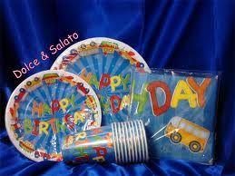 Piatti di carta per compleanno decorati Happy Birthday