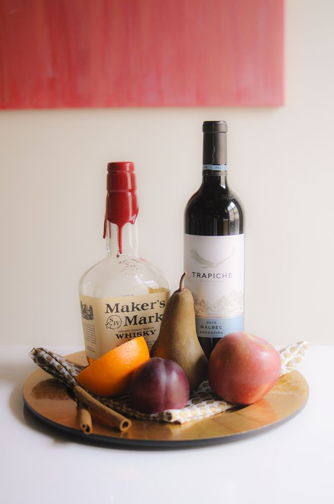 autumn bourbon sangria / the life styled 1 bottle malbec ...
