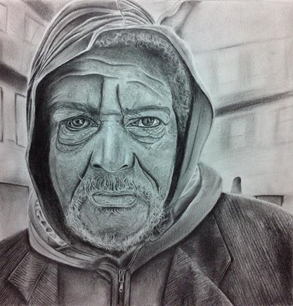 old man drawing by Alexandros Rapoutikas