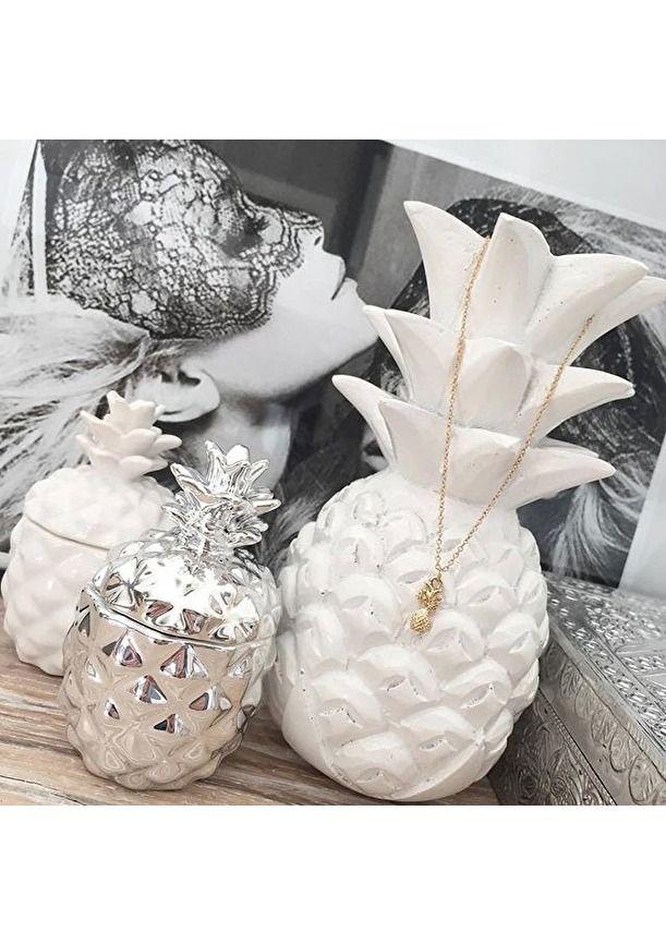 Precious Pineapple Delicate Necklace in Gold #cute #pretty #gold #fashion - 14,90 € @happinessboutique.com